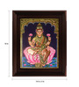 Myangadi Multicolour Gold Plated Dhana Laxmi Framed Tanjore Painting