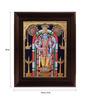 Myangadi Multicolour Gold Plated Guruvayoor Krishna Framed Tanjore Painting