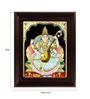 Myangadi Multicolour Gold Plated Saraswathi Plywood 2.9 X 14 X 18 Inch Framed Tanjore Painting