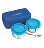 Nano 9 Mid Day Small Plus Stainless Steel Lunch Box with Plate - Set of 2