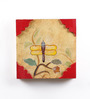NB Home Interior  Multicolour Mango Wood 12 x 1 x 12 Inch Wall Painting