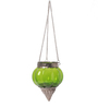 Ni Decor Green Metal & Glass Small Rolly Polly  Candle Holders
