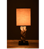 Zena Table Lamp in Brown by Bohemiana