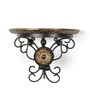 Onlineshoppee Brown Mango Wood Sturdy & Hand Carved Wall Bracket