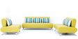 Oscar Three Seater Sofa in Lime Colour by Furnitech
