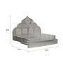 Pavitra Mandir Silver Wood & Aluminium Temple