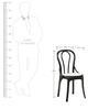 Pearl Cane chair (set of 4) in Black colour by Supreme