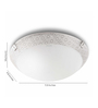 Philips White Glass Flush Mounted
