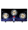 Pigeon Smart Plus Zeus Brass 3 Burner Gas Stove