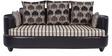 Polar Sofa Set 3+1+1 in Black Color by Arra