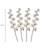 Pollination White Butterfly Orchid Artificial Flowers - Set of 4