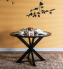 Burgdorf Four Seater Dining Table in Espresso Walnut Finish by Woodsworth