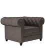 Princeton One Seater Sofa in Peras Bag Brown Colour by ARRA