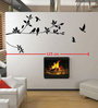 Print Mantras Pvc Wall Stickers Black Tree Branches and Birds