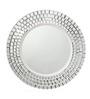 Rainforest Italy Transparent Glass Circular Brick Mirror
