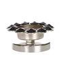 Rajrang Silver Crystal Diamond Candle Holder