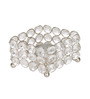 Rajrang Silver Crystal Four Stand Candle Holder