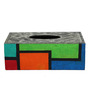 Rang Rage Multicolor Wooden Colors Of Compassion Tissue Box Holder