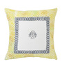 Rang Rage Amber Cotton 16 x 16 Inch Fest Handpainted Cushion Covers - Set of 5