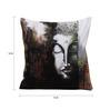 Rangrage Multicolour Cotton 16 x 16 Inch Hand Painted Meditating Buddha Cushion Cover
