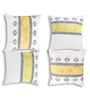 Rang Rage Amber Cotton 16 x 16 Inch Handpainted Elegance Cushion Covers - Set of 4
