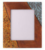 Rang Rage Multicolour Mango Wood 12 x 0.8 x 14.1 Inch Summer Reprise Hand Painted Photo Frame
