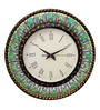 Rang Rage Multicolour MDF 16 Inch Round Mystic Rajasthan Round Wall Clock