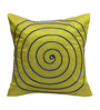 Rang Rage Lime Poly Silk 16 x 16 Inch Circle Cushion Cover