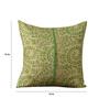 RangDesi Multicolor Silk 16 x 16 Inch Bhagalpuri Handloom Hand Block Printed Cushion Cover