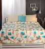 Raymond Home Greens Nature & Florals Cotton Queen Size Dohar