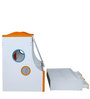 Remo Bed with Storage in Glossy White & Orange Colour by Royal Oak