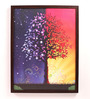 Retcomm Art Wooden 18 x 1 x 24 Inch Day & Night Framed Canvas Painting