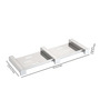 Rigma Antic Metallic Stainless Steel Double Soap Dish