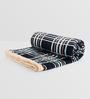 Rosepetal Light & Dark Blue Acrylic Checks 95 x 85 Inch Double Bed Blanket
