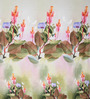 Rosepetal Multicolored Cotton Floral 100 x 90 Inch Double Bed Sheet (with Pillow Covers)