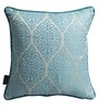 S9Home by Seasons Blue Polyester 16 x 16 Inch Traditional Cushion Cover with Piping - Set of 2