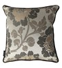 S9Home by Seasons Grey Polyester 16 x 16 Inch Cushion Cover with Piping - Set of 2