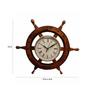 Saaga Brown Sheesham Wood Wheel Clock
