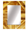 Sabas Wall Mirror in Brown by Casacraft