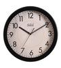 Safal Quartz Black MDF 13.5 Inch Round Bold Figured 2 Tone Beauty Wall Clock