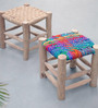 Sahara Hand-Made Stool in Natural Colour by The Rug Republic