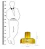 Sahil & Sarthak Yellow Mild Steel Pendant