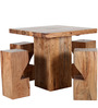Portland Four Seater Dining Set & Bar Set in Natural Acacia Finish by Woodsworth