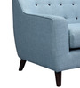 San Bruno One Seater Sofa in Ice Blue Colour by CasaCraft