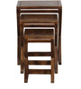 Burgdorf Set of Tables in Provincial Teak Finish by Woodsworth
