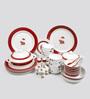 Sanjeev Kapoor Utsav Collection Bone China Dinner Set - Set of 48