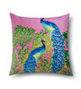 Sej by Nisha Gupta Multicolor Cotton 16 x 16 Inch HD Digital Premium Peacock Cushion Covers - Set of 2