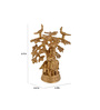 ShopEndHere Gold Brass Krishna Tree Idol