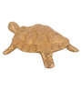 ShopEndHere Gold Brass Tortoise Showpiece