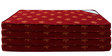 Single 4 Inch Foam Mattress in Maroon Color by Story@Home - Set of 4